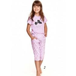 Piżama dziewczęca z króliczkiem w kolorze liliowym 134 140