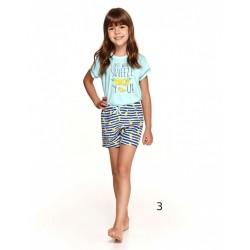 Letnia dziewczęca piżama ze śmiesznym napisem 86