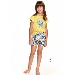 Urocza piżama dziewczęca żółta z koalą idealna na lato 86