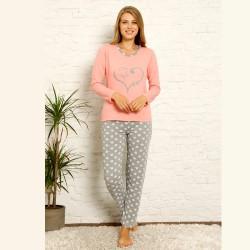 Damska bawełniana piżama w różowym kolorze S M L XL 2XL