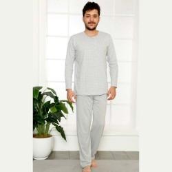 Dwuczęściowa szara piżama męska bawełna M L XL 2XL