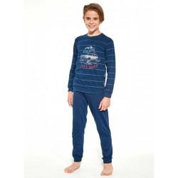 Piżama dziecięca dla chłopca bawełna kolor granat 86/92 do 158/164