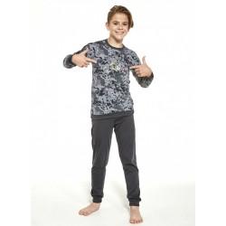 Dziecięca piżama dla chłopca bawełniana wzór moro 98/104