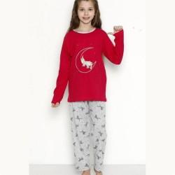 Śliczna piżama dziewczęca z wzór jednorożcem 122 do 152